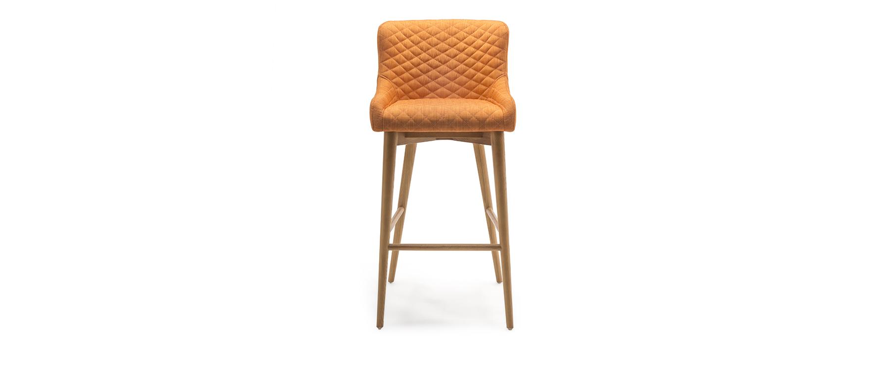 Chelsea bar stool in burnt orange ez living furniture dublin cork kildare waterford