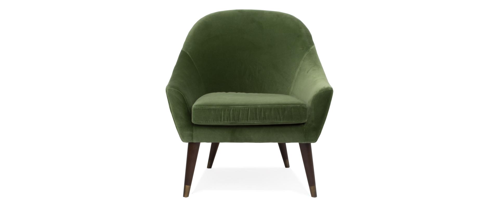Terrific Bijoux Velvet Occasional Chair In Grass Creativecarmelina Interior Chair Design Creativecarmelinacom