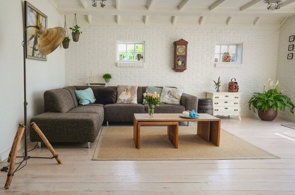 Living Room With Vintage Furniture