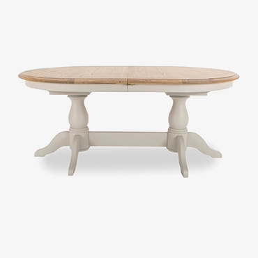 Loire Grey Oval Extending Dining Table