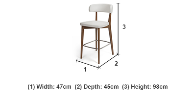 Siren Walnut/White Barstool