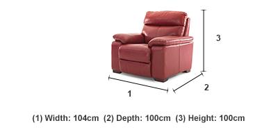rimini 1 seater manual recliner leather recliners ez living