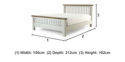 Camille 4 39 6 Bedframe Ez Living Furniture Dublin Cork