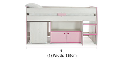 Zoe Midsleeper Bunk Bed Assembly Not Included