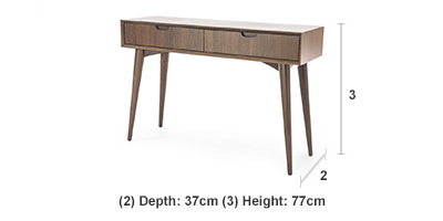 Oslo Walnut Console Table With Drawers Ez Living Furniture Dublin