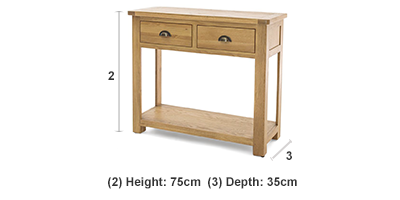 Canterbury 2 Drawer Console Table