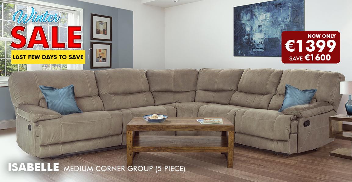 Isabelle Medium Corner Group (5 Piece)