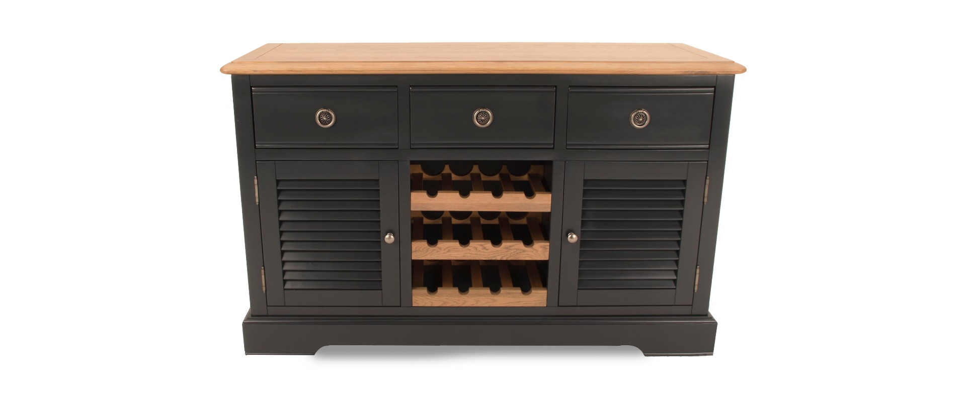 Charlotte Charcoal Large Sideboard