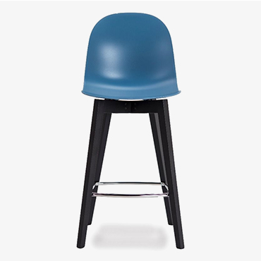 Academy Sky Blue Barstool with Graphite Base