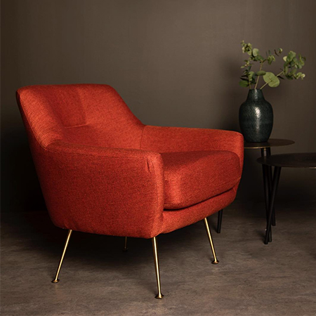 Zelda Burnt Orange Accent Chair